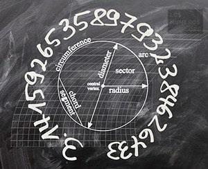 Numero pi en una circunferencia